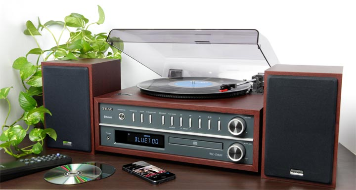 TEAC Accueil MC D800 Chaine hi fi Bluetooth& platine vinyle # Chaine Hifi Retro Bois