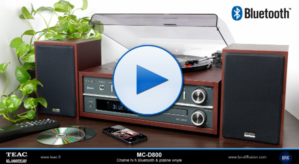 teac accueil mc d800 chaine hi fi bluetooth platine vinyle. Black Bedroom Furniture Sets. Home Design Ideas